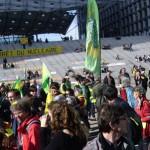 manifestation du Réseau Sortir du nucléaire à la Défense le 9 mars 2013